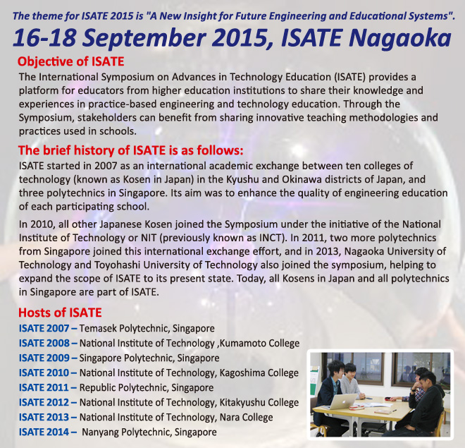 The 9th International Symposium on Advances in Technology Education